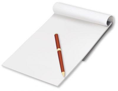 感謝できることを紙に書き出す