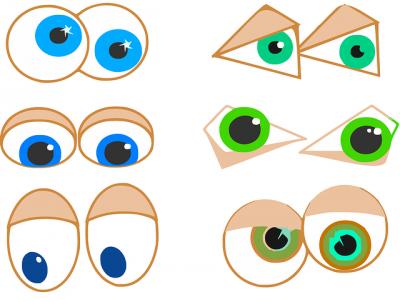 目をギョロギョロと動かす